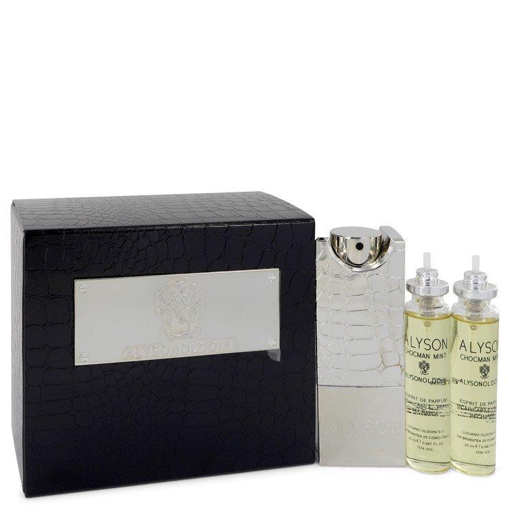 Chocman Mint by Alyson Oldoini  Men's Eau De Parfum Refillable Spray Includes 3 x Refills and Atomizer 2 oz