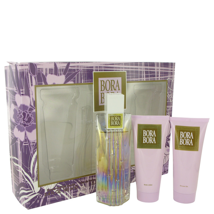 Bora Bora by Liz Claiborne Women's Gift Set -- 3.4 oz Eau De Parfum Spray + 3.4 oz Body Lotion + 3.4 oz Body Wash