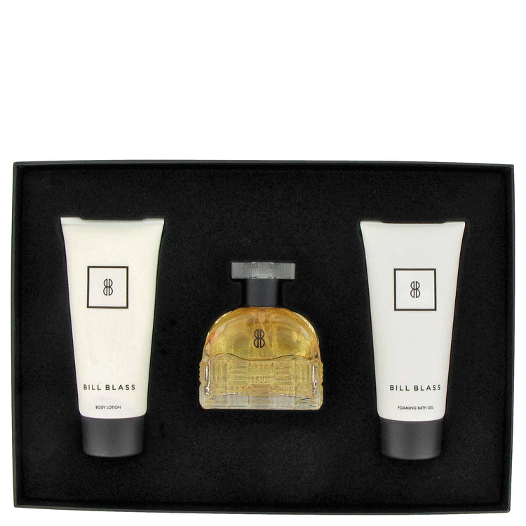 Bill Blass New for Women, Gift Set (2.7 oz EDP Spray + 3.4 oz Body Lotion + 3.4 oz Shower Gel)