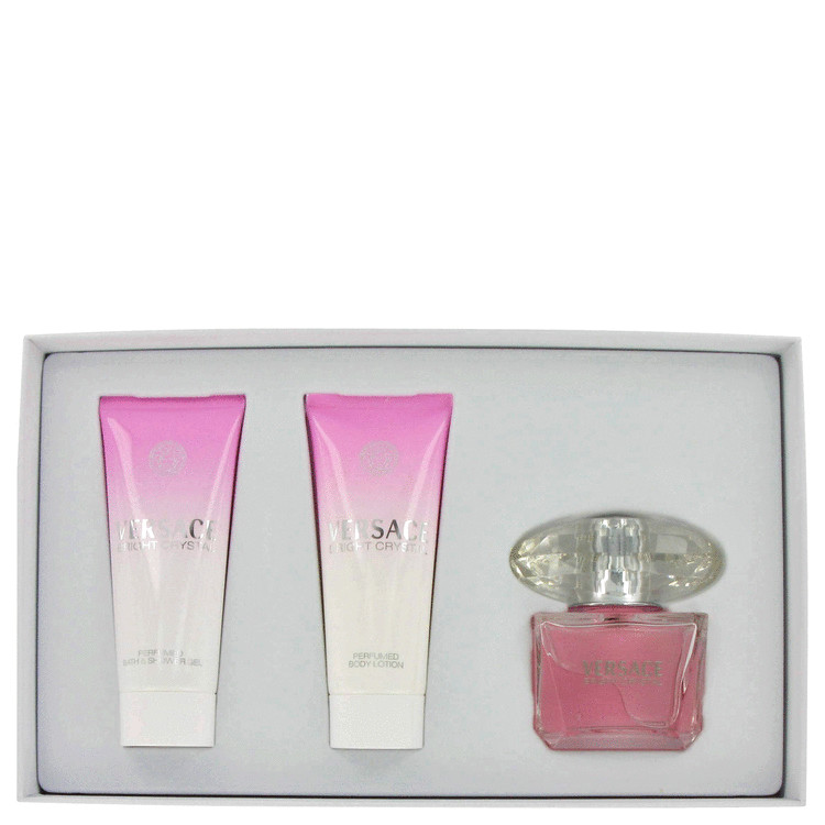 Bright Crystal for Women, Gift Set (3 oz EDT Spray + 3.4 oz Shower Gel + 3.4 oz Body Lotion)