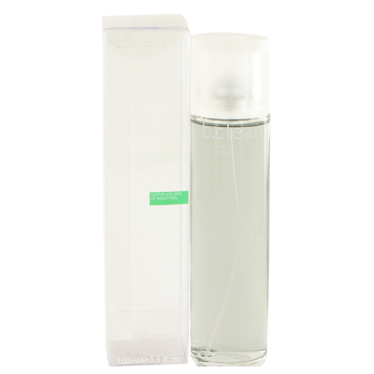 Be Clean Relax by Benetton for Women Eau De Toilette Spray 3.4 oz