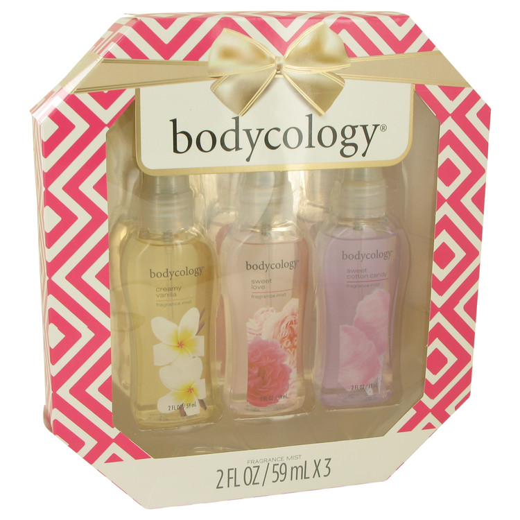Bodycology Sweet Cotton Candy by Bodycology for Women Gift Set -- Bodycology Set Includes Creamy Vanilla, Sweet Love and Sweet C