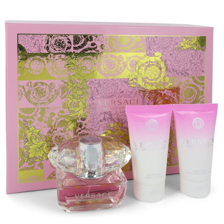 Bright Crystal Gift Set -- Gift Set - 1.7 oz Eau De Toilette Spray + 1.7 oz Shower Gel + 1.7 oz Body Gel for Women