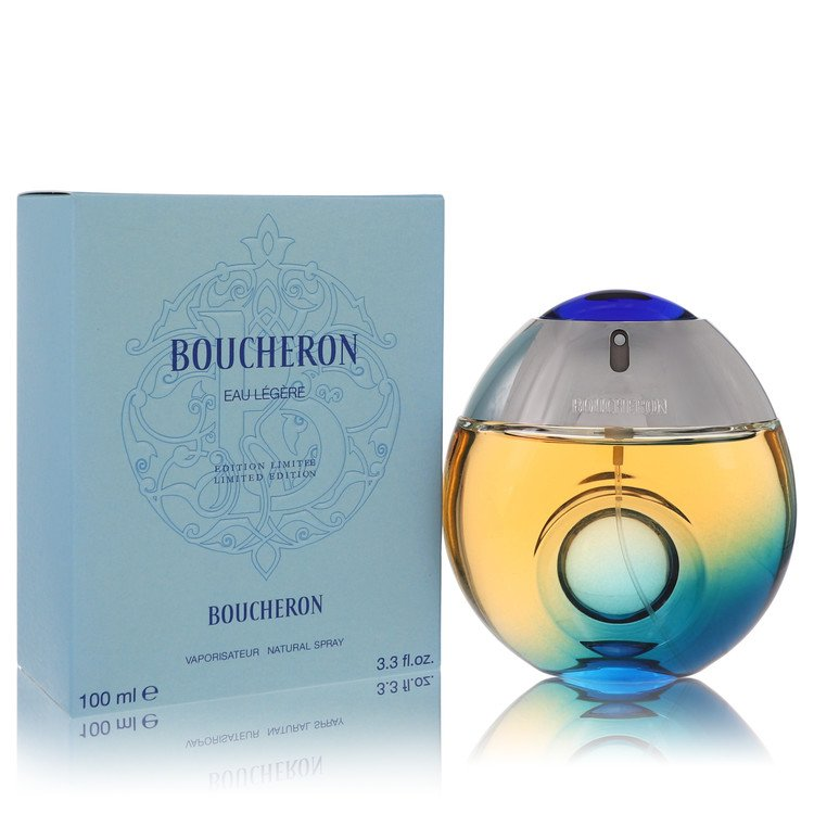 Boucheron Eau Legere Perfume 100 ml Eau De Toilette Spray (Blue Bottle, Bergamote, Genet, Narcisse, Musc) for Women
