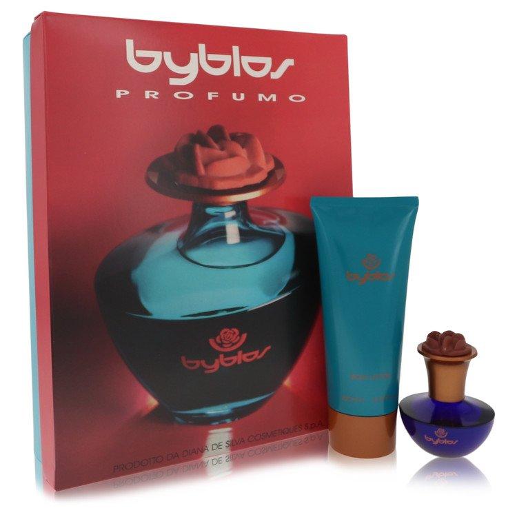 Byblos Gift Set -- Gift Set - 1.68 oz Eau De Parfum Spray + 6.75 Body Lotion for Women