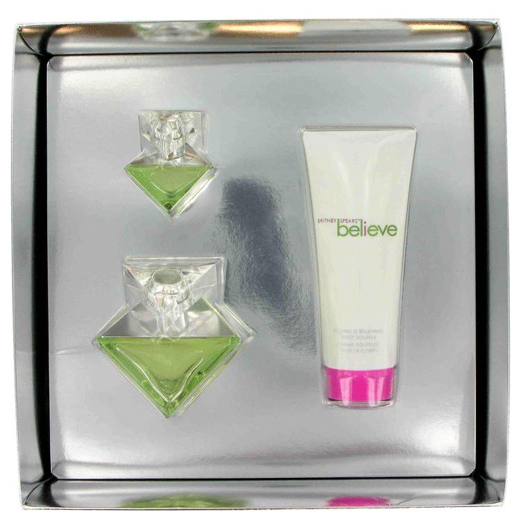 Believe Gift Set -- Gift Set - 1.7 oz Eau De Parfum Spray + 3.3 oz Body Lotion + Mini for Women