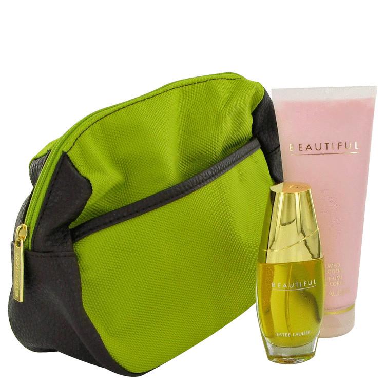Beautiful Gift Set -- Gift Set - 1 oz Eau De Parfum Spray + 3.4 oz Body Lotion + Bag for Women
