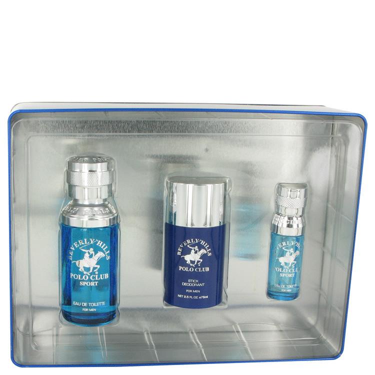 Beverly Hills Polo Club Sport Gift Set -- Gift Set - 2.5 oz Eau De Toilette Spray + 1/2 oz Mini EDT Spray + 2.5 oz Deodorant Stick for Men