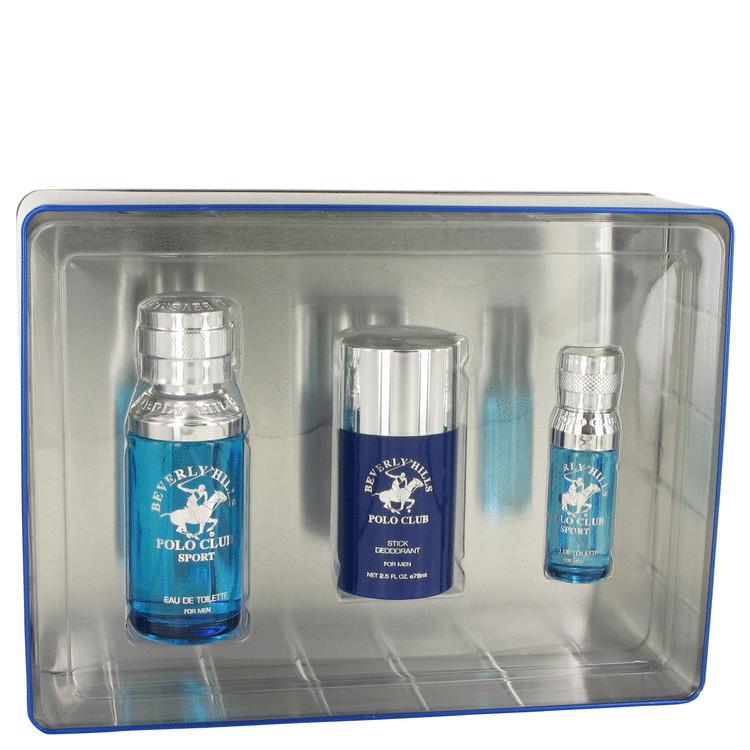 Beverly Hills Polo Club Sport Gift Set -- Gift Set - 3.4 oz Eau De Toilette Spray + 2.6 oz Deodorant Stick + .5 oz Mini EDT Spray for Men
