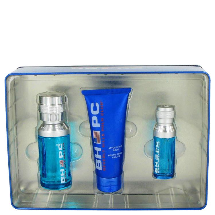 Beverly Hills Polo Club Sport for Men, Gift Set (3.4 oz EDT Spray + 2.5 oz Deodorant Stick + 2.5 oz After Shave Balm)