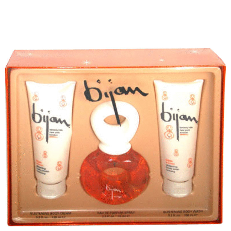 Bijan Gift Set -- Gift Set - 2.5 oz Eau De Parfum Spray + 3.3 oz Body Cream + 3.3 oz Body Wash for Women