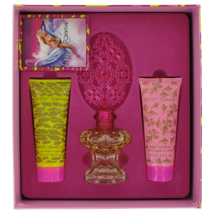 Betsey Johnson Gift Set -- Gift Set - 1.7 oz Eau De Parfum Spray + 2.5 oz Body Lotion + 2.5 oz Shower Gel for Women
