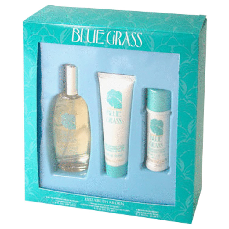 Blue Grass for Women, Gift Set (3.3 oz EDP Spray + 1.5 oz Deodorant Cream + 2.5 oz Hand/Body Lotion)