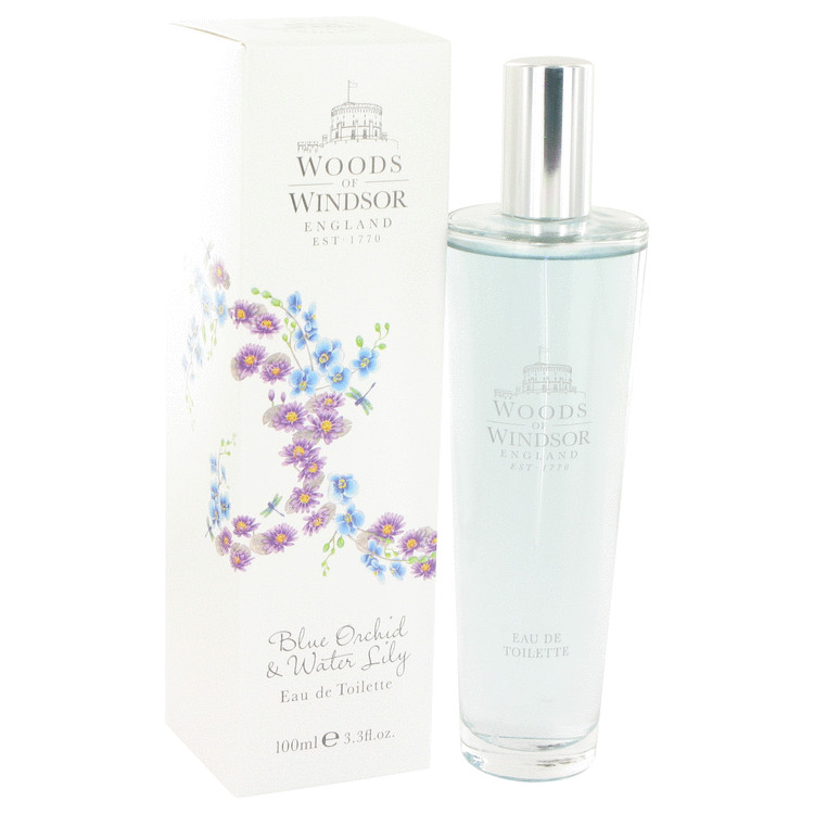 Blue Orchid & Water Lily by Woods of Windsor – Eau De Toilette Spray 3.4 oz (100 ml) for Women