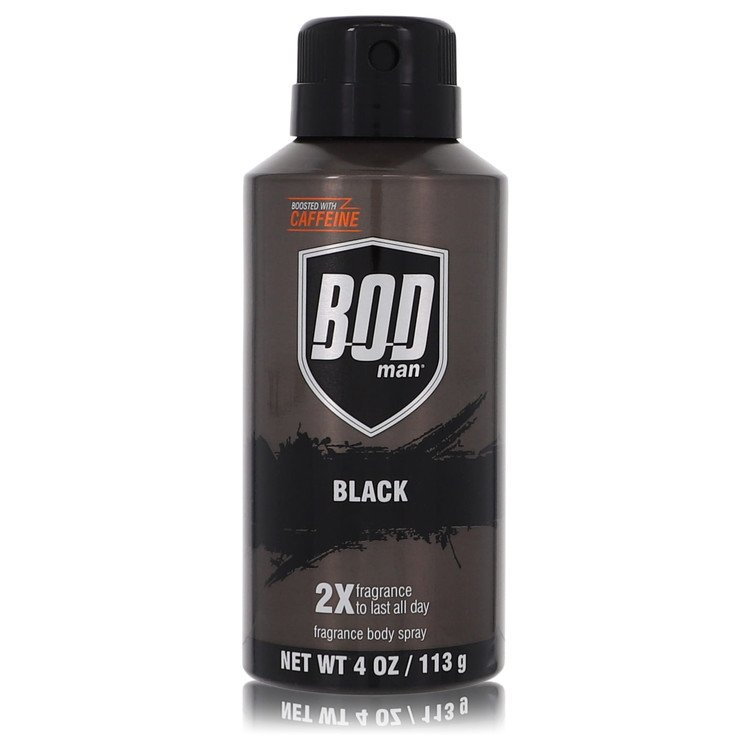 Bod Man Black by Parfums De Coeur for Men Body Spray 4 oz