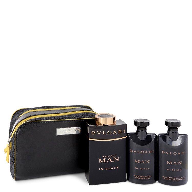 Bvlgari Man In Black Gift Set -- Gift Set - 3.4 oz Eau De Parfum Spray + 2.5 oz After Shave Balm +2.5 oz Shower Gel + Free Pouch for Men