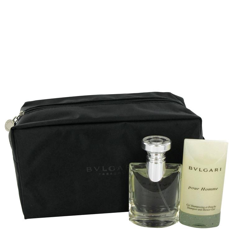 Bvlgari (bulgari) Gift Set -- Gift Set - 1.7 oz Eau De Toilette Spray + 2.5 oz Shampoo/Shower Gel in Toiletry Case for Men