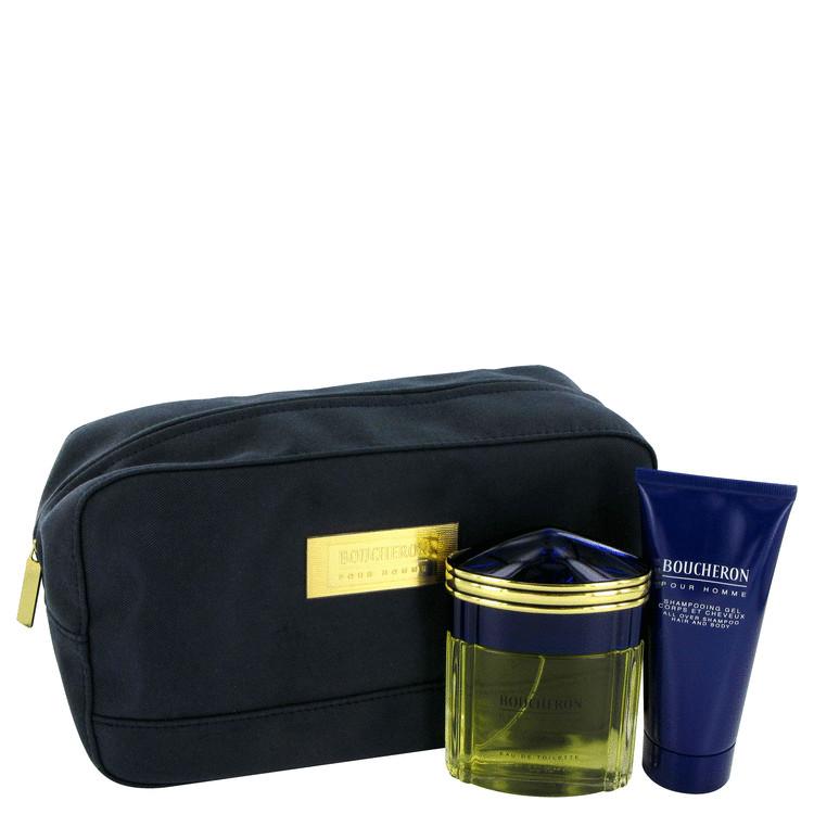 Boucheron for Men, Gift Set (3.3 oz EDT Spray + 3.3 oz Shower Gel in Pouch)