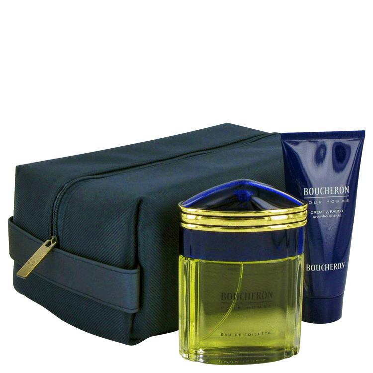Boucheron Gift Set -- Gift Set - 3.3 oz Eau De Toilette Spray + 3.3 oz After Shave Cream for Men