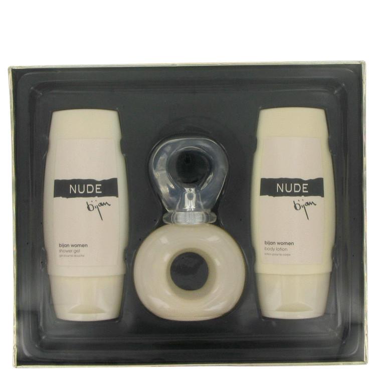 Bijan Nude for Women, Gift Set (2.5 oz EDT Spray + 3.3 oz Body Lotion + 3.3 oz Shower Gel)