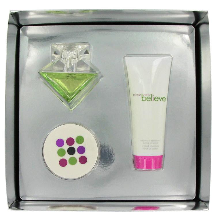 Believe for Women, Gift Set (1.7 oz EDP Spray + 3.3 oz Body Souffle + 0.5 oz Powder)