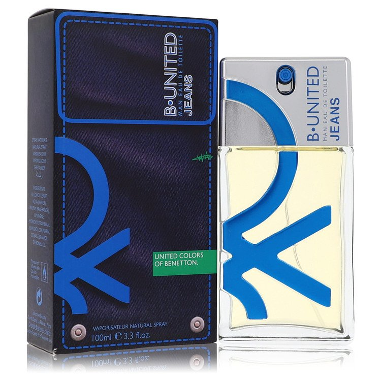 B United Jeans Cologne by Benetton 100 ml EDT Spay for Men