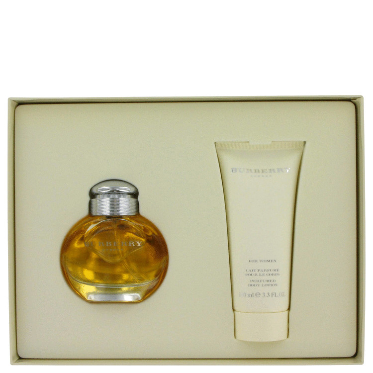 Burberry Gift Set -- Gift Set - 1.7 oz Eau De Parfum Spray + 3.3 oz Body Lotion for Women
