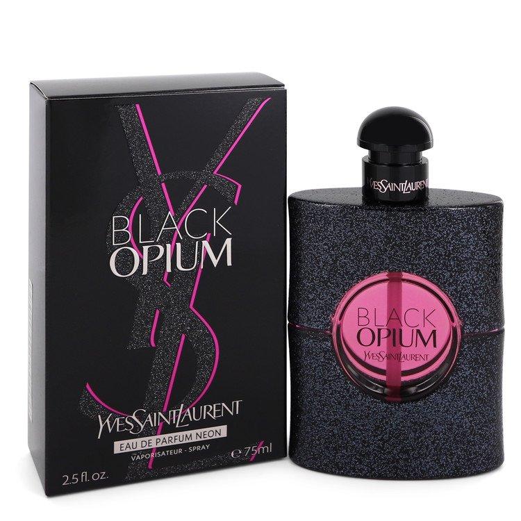 Black Opium by Yves Saint Laurent –  Eau De Parfum Neon Spray 2.5 oz 75 ml for Women