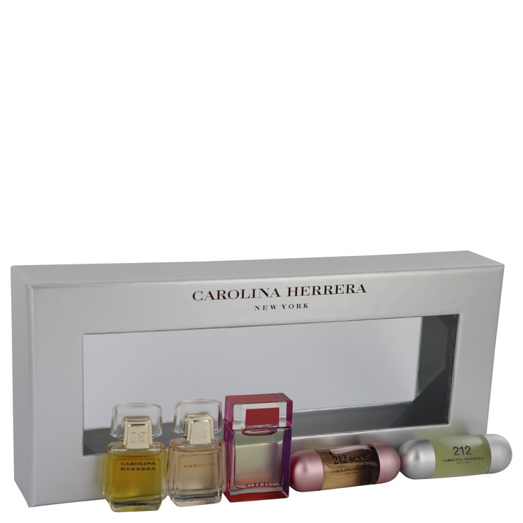 Carolina Gift Set -- Gift Set - Mini Gift Set Includes Carolina Herrera, Carolina, Chic, 212 and 212 Sexy. for Women