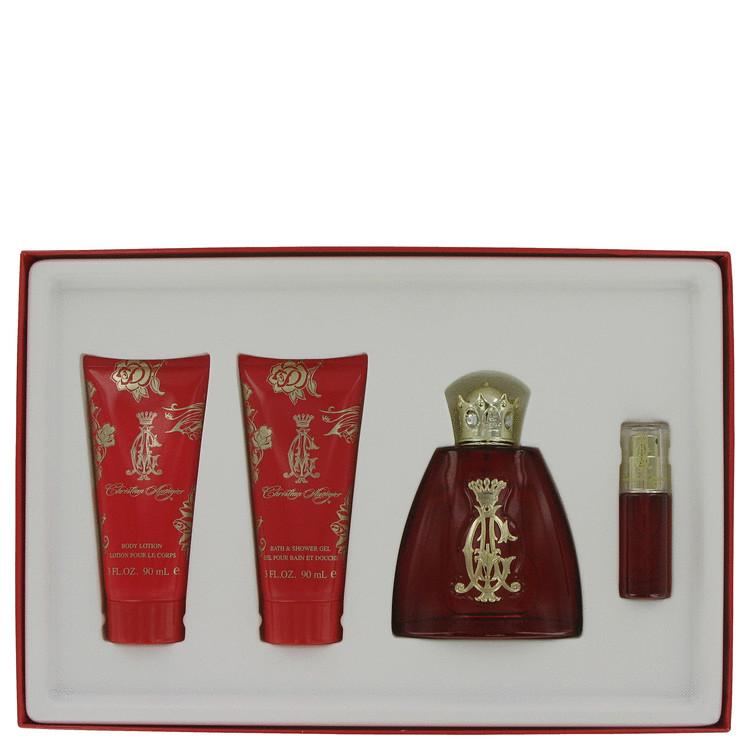 Christian Audigier Gift Set -- Gift Set - 3.4 oz Eau De Parfum Spray + 3.4 oz Body Lotion + 3 oz Shower Gel + .25 oz Mini EDP Spray for Women