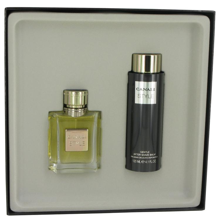 Canali Style Gift Set -- Gift Set - 1.7 oz Eau De Toilette Spray + 4.1 oz After Shave Balm for Men