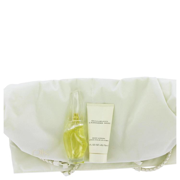 Cashmere Mist Gift Set -- Gift Set - 1.7 oz Eau De Toilette Spray + 2.5 oz Body Lotion + Designer Bag for Women
