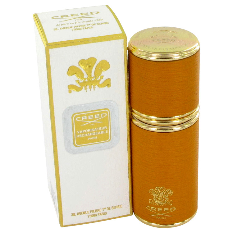 Green Irish Tweed Accessories 1.7 oz Camel Leather Refillabe Atomizer with Gold Plated Trim for Women