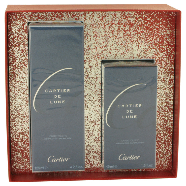 Cartier De Lune for Women, Gift Set (4.2 oz EDT Spray + 1.5 oz EDT Spray)