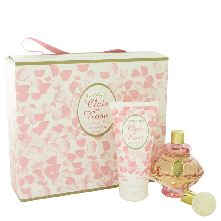 Clair De Rose by Berdoues for Women Gift Set -- 2.6 oz Eau De Toilette Spray + 2.5 oz Body Lotion