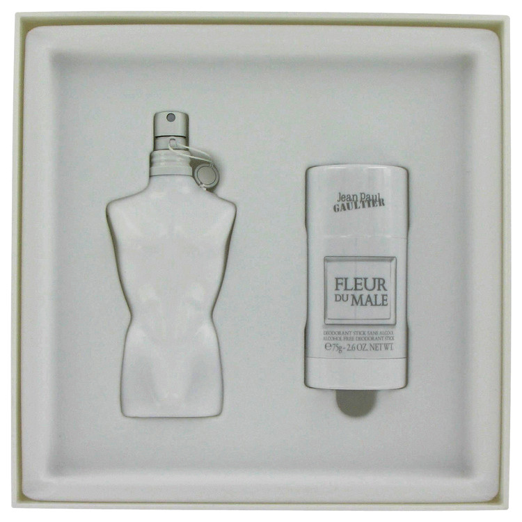 Fleur Du Male for Men, Gift Set (2.5 oz EDT Spray + 2.6 oz Deodorant Stick)