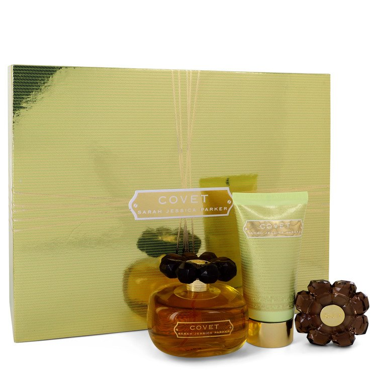 Covet Gift Set -- Gift Set - 3.4 oz Eau De Parfum Spray + 2.5 oz Body Loiton + Perfume Compact for Women