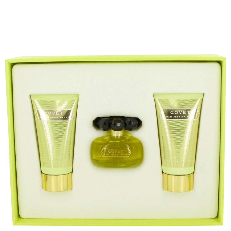 Covet Gift Set -- Gift Set - 1.7 oz Eau De Parfum Spray + 2.5 oz Body Lotion + 2.5 oz Shower Gel for Women