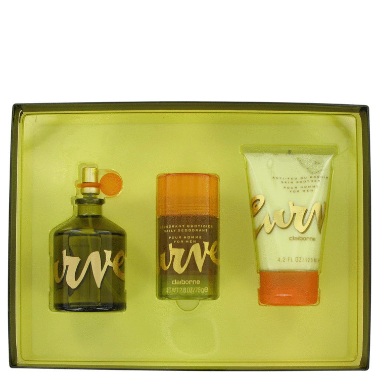 Curve Gift Set -- Gift Set - 4.2 oz Cologne Spray + 4.2 oz Skin Soother + 2.6 oz Deodorant Stick for Men