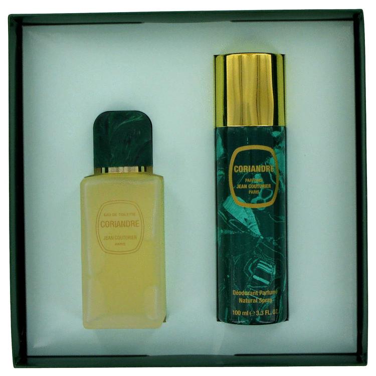 Coriandre Gift Set -- Gift Set - 3.3 oz Eau De Toilette Spray + 3.3 oz Deodorant Spray for Women