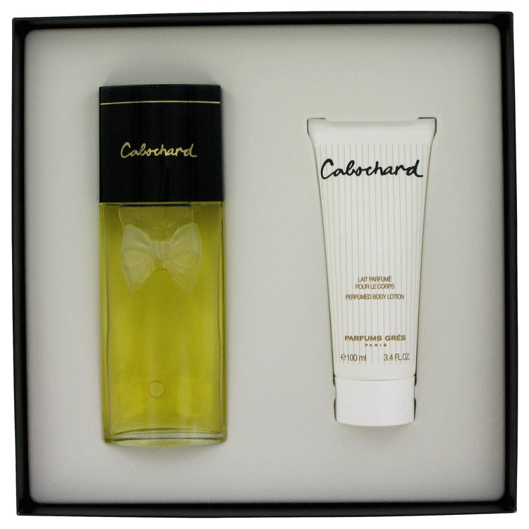 Cabochard Gift Set -- Gift Set - 3.4 oz eau De Toilette Spray + 3.4 oz Body Lotion for Women