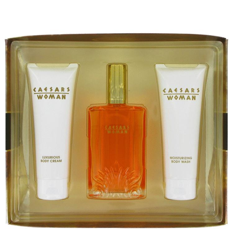 Caesars Gift Set -- Gift Set - 3.3 oz Eau De Cologne Spray + 3.3 oz Body Cream + 3.3 oz Body Wash for Women