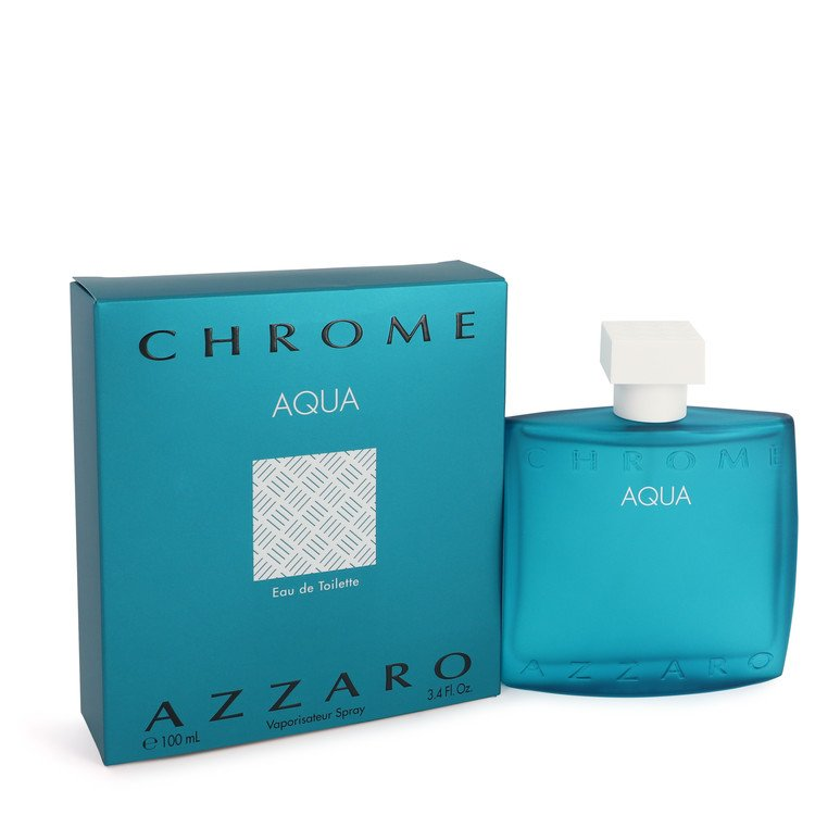 Chrome Aqua Cologne by Azzaro 100 ml Eau De Toilette Spray for Men
