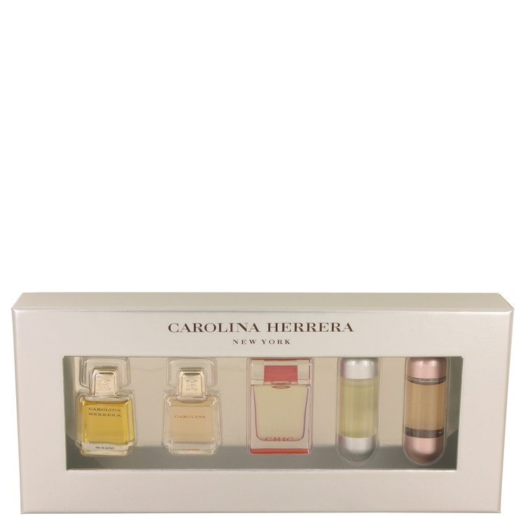 Chic Gift Set -- Gift Set - Mini Gift Set Includes Carolina Herrera, Carolina, Chic, 212 and 212 Sexy. for Women