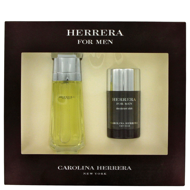 Carolina Herrera Gift Set -- Gift Set - 3.4 oz Eau De Toilette Spray + 2.5 oz Deodorant Stick for Men
