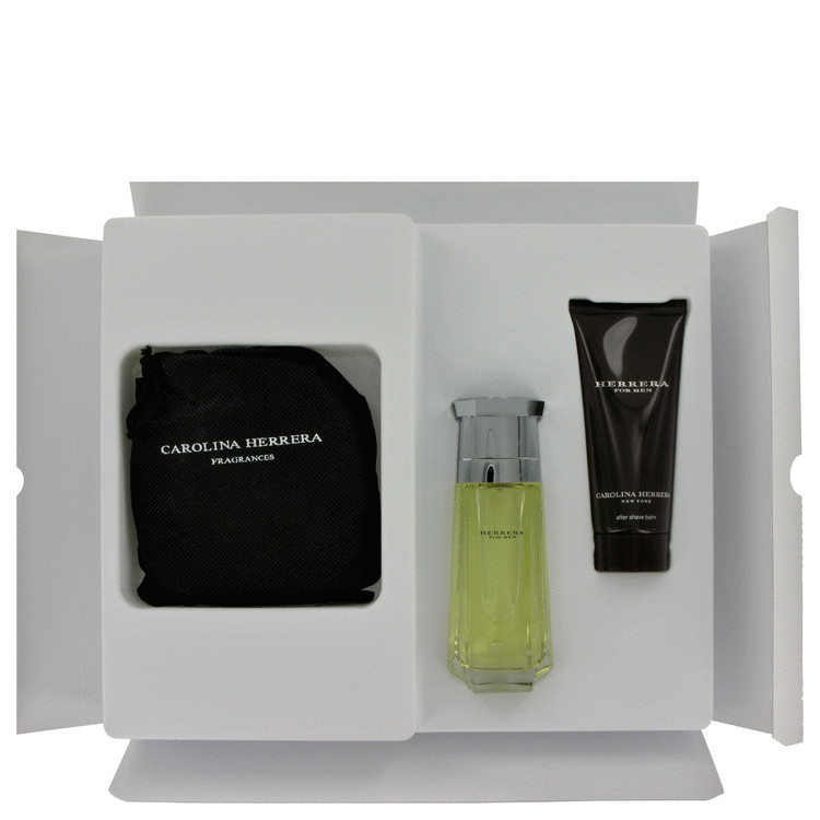Carolina Herrera Gift Set -- Gift Set - 3.4 oz Eau De Toilette  Spray + 3.4 oz AfterShave Balm + Belt for Men