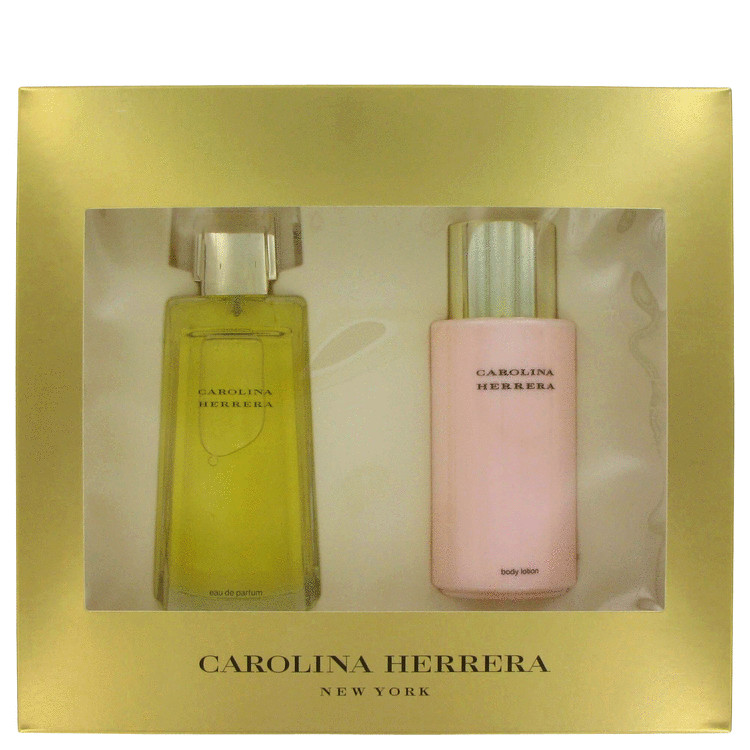 Carolina Herrera Gift Set -- Gift Set - 3.4 oz Eau De Parfum Spray + 6.7 oz Body Lotion for Women
