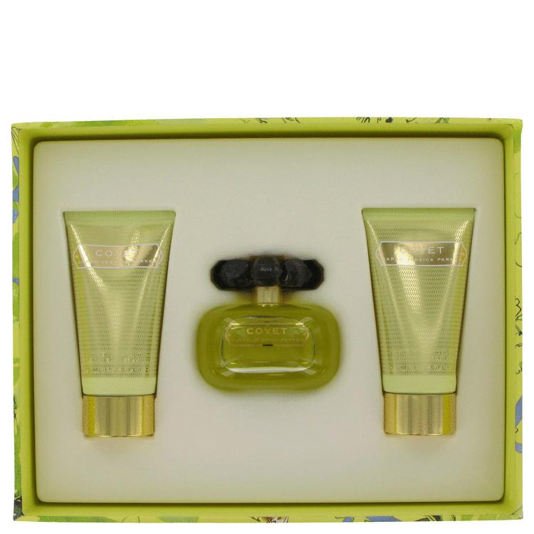 Covet for Women, Gift Set (3.4 oz EDP Spray + 2.5 oz Body Loiton +2.5 oz Shower Gel)