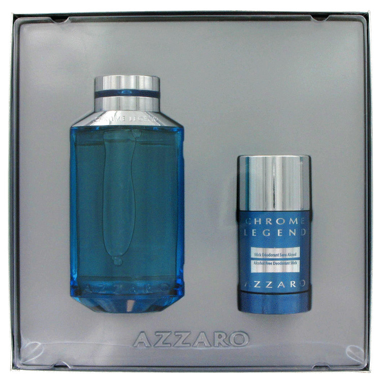 Chrome Legend Gift Set -- Gift Set - 4.2 oz Eau De Toilette Spray + 2.6 oz Deodorant Stick for Men