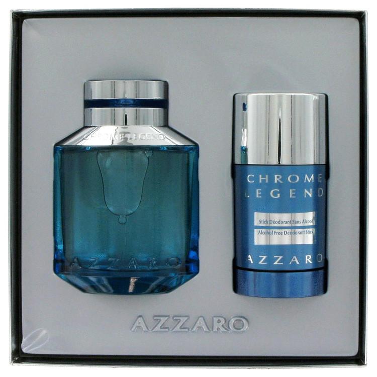 Chrome Legend for Men, Gift Set (2.5 oz EDT Spray + 2.6 oz Deodorant Stick)